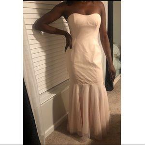 French Novelty Dresses - NUDE/BLUSH French Novelty bridesmaid's dress